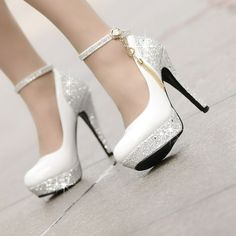 12cm ultra high heels single shoes female thin heels platform  white wedding shoes formal dress shoes red bridal shoes US $41.40