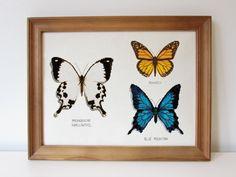 Butterflies cross stitch - Nature embroidery