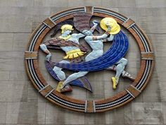 Art Deco Plaques: Dance, Drama, Song by Hildreth M. Meiere - Radio City Music Hall, Rockefeller Center, NY, NY