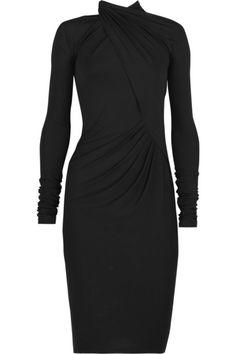 Donna Karan Dresses | Donna Karan dress has a high halter neck, wrap-around detail at front ...