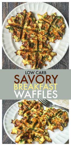 Savory Breakfast Waffles