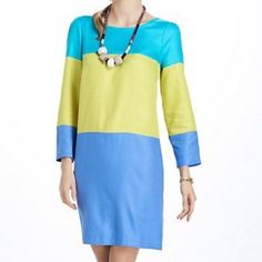 Anthropologie Maeve Colorblock Dress 12 L This is a super comfy and flowy dress by Maeve. It's in excellent condition. The material is rayon. 34.5 inches long. Anthropologie Dresses