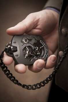 Urwerk UR-1001 pocket watch. Swiss Army Watches, Swiss Pocket Watches, Cool Stuff For Men, Cool Gadgets For Men, Mens Gadgets, Man Stuff, Cool Watches, Watches For Men, Fine Watches