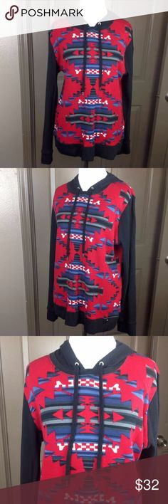 Ralph Lauren Top XL Thermal Hoodie Southwestern Great Condition; Ralph Lauren Active Top XL Thermal Hoodie Southwestern 100% Cotton; 25 inch length 21 inch across bust Ralph Lauren Tops Blouses