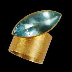 Ulla, Martin Kaufmann - Ring, 18k Gold, Aquamarine, Artist Ulla, Martin Kaufmann