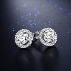 5A Level Zircon Jewelry White Crystal Earring //Price: $14.95 & FREE Shipping //     #jewels #jewel