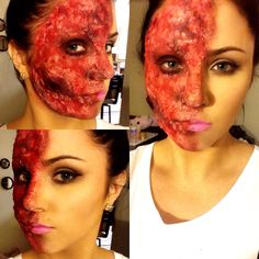"""""""Beauty and the Beast"""" scary Halloween makeup"""