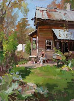 "Ken DeWaard, ""The Bee Keeper's Wife,"" 16 x 20, Oil on canvas.... reminds me of Idaho"