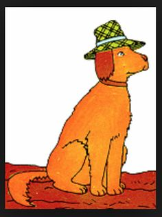 """Kind Dog from the """"Ant and Bee"""" series. He was always my favorite character, and I always wanted a dog just like him. I adored our 2 Airedales, but I also wanted a Golden Retriever, not only for Kind Dog (who was perhaps an Irish Setter?) but bc I loved their fluffiness, esp their feathered tails. Just last summer, we got an incredibly cute Golden puppy, Griffin, now 5 mos."""