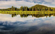 Télécharger fonds d'écran Oxbow, l'Amérique, le lac, la forêt, le Parc National de Grand Teton, états-unis