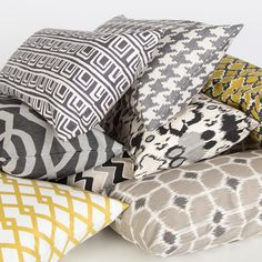 Bedroom inspiration and bedding decor   Black and White Zig Zag Throw Pillows   Crane and Canopy
