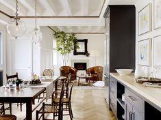 Transitional Open Plan Kitchen/Living/Dining Room // Designer Crush: Alison Davin