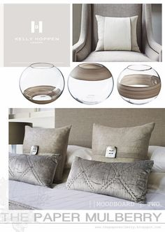 divine taupes | contemporary bedroom chic | boutique hotel styling for the master suite || The Paper Mulberry: || KELLY HOPPEN | New online shop!