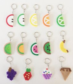 Items similar to 10 x Fruit Slice / Food Key Chains or Rings on Etsy