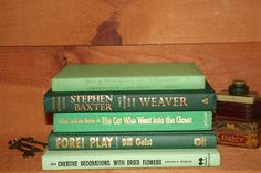 A Vintage Green Instant Library  5 Books by RiverOfTimeTreasures, $25.00