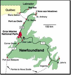 We spent a couple amazing weeks exploring the Gros Morne National Park area of Newfoundland, Canada. We had already been in the Maritimes a couple months. Rv Travel, Canada Travel, Places To Travel, Canada Trip, Newfoundland Map, Newfoundland And Labrador, Road Trip Map, East Coast Road Trip, Road Trips