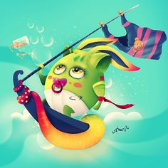 My Colorful Illustrations by Muneer Al-Sulaimi, via Behance