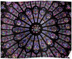 'Notre Dame Rose Window' Poster by Sara Fideler Stained Glass Angel, Stained Glass Windows, Fine Art Prints, Framed Prints, Poster Prints, Paris France, Puzzles, Catholic Wallpaper, Window Poster