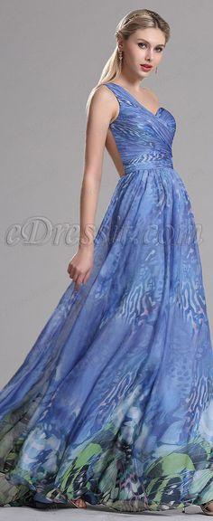 eDressit one shoulder blue prom dress, evening gown