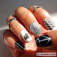 Lacquered Lawyer: Shine Bright Like A Diamond via @lacqueredlawyer #nailart