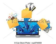 dibujos de computadora de escritorio  Buscar con Google