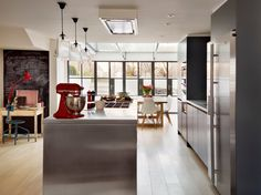 Contemporary Kitchen by Roundhouse - steel frame french doors