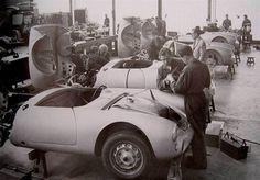 Wendler Workshop assembling the first Porsche 550 Spyder customer cars