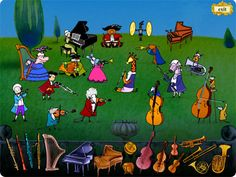 Classical Music Games for Children: Interactive Music Instruction Software for Kids Music Games For Kids, Music Activities, Mozart For Kids, Music Worksheets, Music School, Elementary Music, Music Classroom, Teaching Music, Instruments