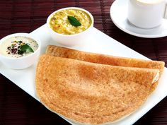 Moru moru dosa, or crisp dosa, is a south Indian favourite, especially with children. Made of a rice, semolina and flour batter, it is easy to make and does not take a long time to ferment. The coconut, green chillies and spices give it a great flavour.