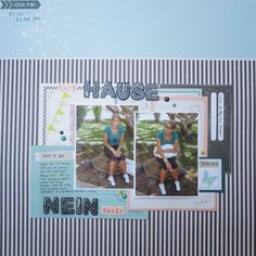 Layout with Dear Lizzy Polka Dot Party Collection
