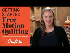 VIDEO: Start Free Motion Quilting with expert tips from Angela Walters! Check out Craftsy Quilting on Youtube