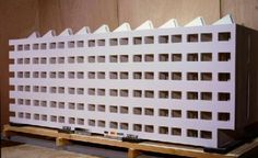 Project model for a communal housing unit (reconstruction 1970). Moisei Ginzburg. Russia. 1928. Reconstruction 1970 by Roger Foster.