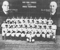 New York Yankees Daily News RePrint of 1941 World Series Team Photo & Headline Team Pictures, Team Photos, Sports Photos, Yankees Team, New York Yankees, World Series Winners, Joe Dimaggio, Yankee Stadium, Daily News