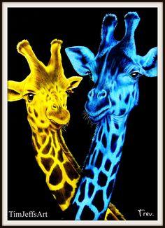 Giraffes by Trevor Grant