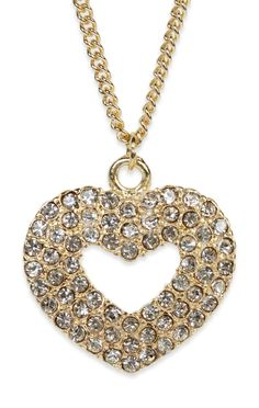 3 row #rhinestone #heart #necklace $7.12