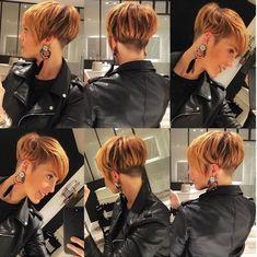 Moda cortes de cabelo e penteados 2018 - Frisuren - Popular Short Hairstyles, Short Hairstyles For Women, Cool Hairstyles, Curly Hair Styles, Natural Hair Styles, Pixie Haircut, Hair Today, Hair Dos, Short Hair Cuts