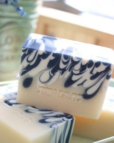beautiful swirl on this handcrafted soap design.