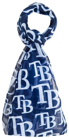 Forever Collectibles Tampa Bay Rays All Over Logo Infinity Scarf