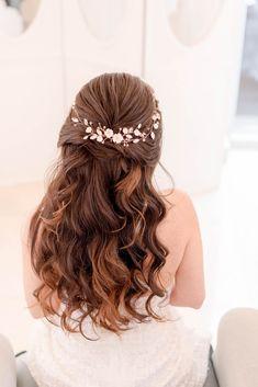 Pfau Feder Braut Hochzeit Haar Clip Kopfstück Haar Zubehörteil