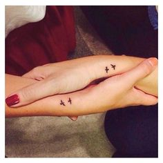 32 Perfect Best Friend Tattoo Designs ❤ liked on Polyvore featuring accessories and body art