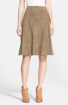 Suede Skirt for Fall