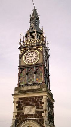 Clock Tower  - Stopped forever on 12.51 Christchurch NZ after the earthquake