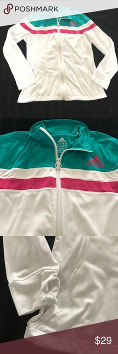Adidas sport jacket Euc no stain size med has thumb holes full zip adidas Jackets & Coats