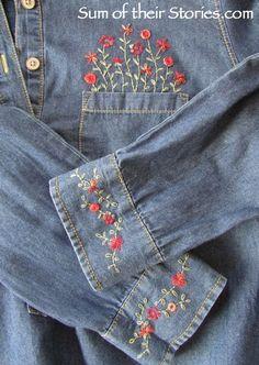 Gesticktes Shirt Refashion - #Gesticktes #Refashion #Shirt - Gesticktes Shirt Refashion