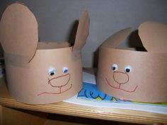 Bear hats for Goldilocks and the Three Bears