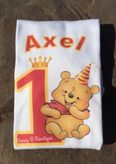 This listing is for a FREE personalized Pooh inspired shirt or onesie, or any other character of your choice. PERFECT for birthdays, pictures, Winnie The Pooh Shirt, Winnie The Pooh Birthday, Big Brother Tshirt, Custom Shirts, Disneyland, Disney Characters, Fictional Characters, Onesies, Birthdays
