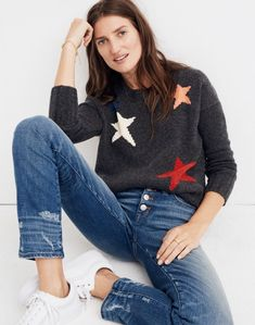Starry Night Pullover Sweater in hthr carbon image 1 Sweater Tank Top, Ugly Sweater, Urban Fashion Women, Womens Fashion, Fashion Night, Sweater Weather, Sweaters For Women, Women's Sweaters, Cardigans
