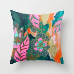 Midnight Pink Throw Pillow by Sonal Nathwani - $20.00