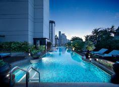 The rooftop pool at Banyan Tree Bangkok