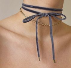 The Sapphire Velvet Double Tie Choker | https://www.instagram.com/p/BF1wV_pNDGI/?taken-by=ventronechronicles